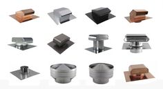 Types of Roof Vents Types Of Roof Vents, Metal Roof Vents, Roof Cap, Gable Vents, Kitchen Exhaust, Chimney Cap, Attic, Creativity, Ceilings