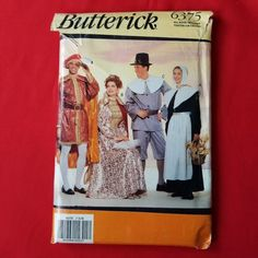 UNCUT Butterick Pattern 6375 Adult Costumes Pilgrims Explorer Columbus Gown | Crafts, Sewing, Sewing Patterns | eBay!