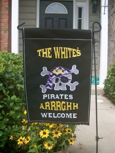 ECU Pirate Garden Flag. Want this for my future home!