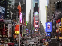 Times Square on a December afternoon.