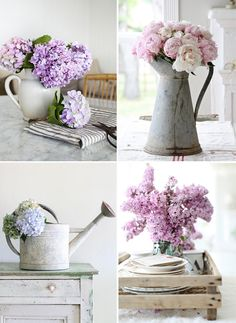 Arrangements with one just type of flower are the easiest   At Home in Love