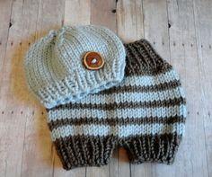 Newborn Beanie Baby Short Pants Newborn Hat Knit by KnitsDuNord