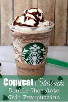 Get the ultimate starbucks coffee recipe book for free yummy copycat starbucks double chocolate chip frappuccino fandeluxe Image collections