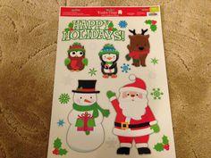*SALE* Christmas Window Clings - Owl Penguin Reindeer Snowman Santa