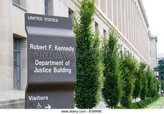 US Department of Justice, Robert F. Kennedy Building, on Pennsylvania Avenue, Washington DC - Stock Image