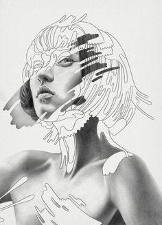 Pencil Portraits - Illustration - Réaliste - Abstrait - Portrait - Graphique - Idée - Discover The Secrets Of Drawing Realistic Pencil Portraits.Let Me Show You How You Too Can Draw Realistic Pencil Portraits With My Truly Step-by-Step Guide. Flyer Poster, Poster On, Poster Collage, Collage Art, Portraits Illustrés, Drawing Portraits, Fashion Portraits, Portrait Ideas, Pencil Drawings