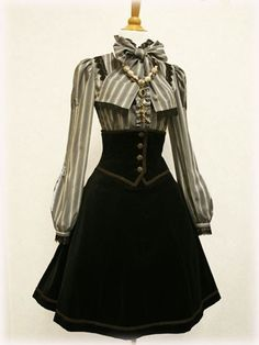 longer skirt and it'd be a cute steampunk look.