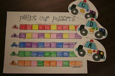 Mrs. Lee's Kindergarten: Community Helpers. The students will make patterns for police cars and ambulances.