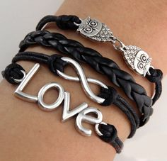 Love and Owls Arm Party Bracelet ♥