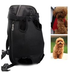 PET Family Dogs Carriers Backpack Front Carrier For Dogs Easy-Fit Adjustable Dog Carrier For A Walk, Hiking And Cycling Black ** Want to know more, click on the image. (This is an affiliate link) #Doggies