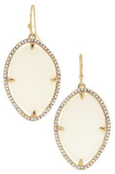 Ivory Epoxy Bezel Set Drop Earrings | Fiona Earrings | Stella & Dot Buy it at http://www.stelladot.com/sherrymartell
