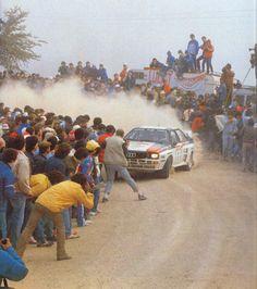 Insanity. Hannu Mikkola vs. fearless spectators in Portugal, 1983. Audi Quattro A1. Via: http://www.amcarsquattro.co.uk/