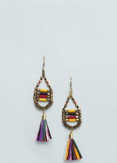 Tassel earrings | MANGO