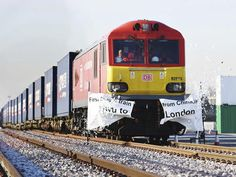 LONDON (AP) — The first direct freight train service from China to Britain arrived in London Wednesday, another leg in Beijing's plans for closer trade ties with Europe along a