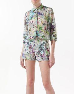 Floral blouse - Zara ss12