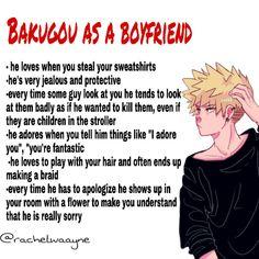 Type of boyfriend-Bakugou Katsuki Boyfriend Best Friend, Anime Boyfriend, Boyfriend Memes, Future Boyfriend, My Hero Academia Shouto, Hero Academia Characters, Fanarts Anime, Anime Manga, Haikyuu