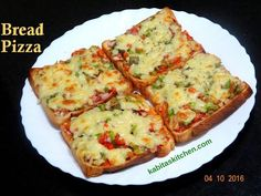 bread pizza quick easy yummy recipe step by step