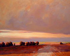 """Prairie Sunset"" by Min Ma - 24x30 acrylic"