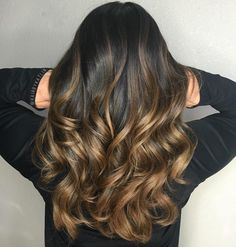 Golden+Brown+Balayage+Hair