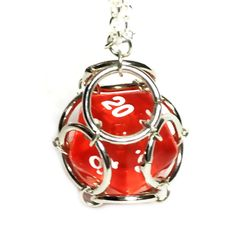 D20 Chainmaille Necklace