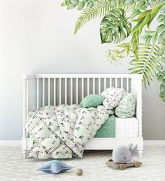 This beautiful greenery gardenwall decal will add that WOW factor to your little one's room or nursery!PRODUCT DETAILSThis extra large decal is available in 2 sizes. The small measuring 90 x 90cm and the large 120 x 120cm (large supplied in 2 pieces for easy installation and shipping).This decalcan be turned to use on either the left or right cornerof your wall. Our wall decals areprinted full colouronto apeel and stick, polyester fabric material.Ginger Monkey decalscan be installe