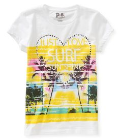 Kids' Just Love Surf Graphic T - PS From Aeropostale