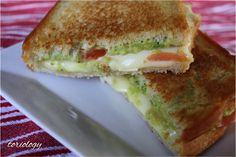 Toriology ~ Grilled Cheese with Avocados and Tomatoes.  Mmmm mm!