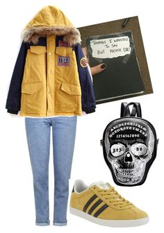 """""""Untitled #714"""" by meghan1 ❤ liked on Polyvore featuring Topshop, adidas, women's clothing, women, female, woman, misses and juniors"""
