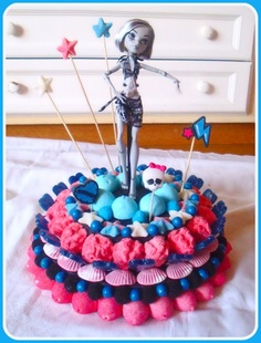 Gateau en bonbon monster high