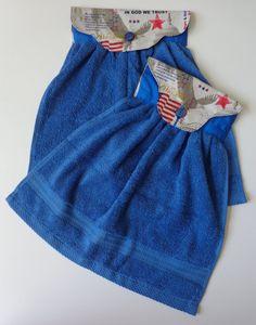 Kitchen Towel/Hand Towel/Patriotic Print Hanging Hand by Salabova