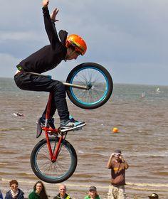 ♂ Man and bike Bmx Riders by Alan B Beattie
