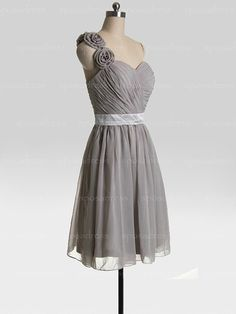 Bridesmaid dresses grey bridesmaid dress chiffon