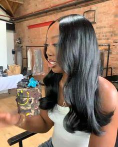 Baddie Hairstyles, Black Girls Hairstyles, Reverse Ombre Hair, Straight Weave Hairstyles, Instagram Hairstyles, Hair Flip, Braids For Black Hair, Love Hair, Hair Inspiration