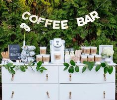 No brunch wedding is complete without a coffee bar for guests! No brunch wedding is complete without a coffee bar for guests! No brunch wedding is complete without a coffee bar for guests! Brunch Wedding, Wedding Catering, Fall Wedding, Dream Wedding, Coffee Bar Wedding, Diy Wedding Bar, Wedding Venues, Coffee Bridal Shower, Coffee Bar Party