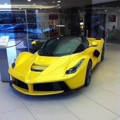 Huge throwback to when I saw my first LaFerrari  .  #supercarsoflondon #supercars #carporn #carswithoutlimits #cars #revving #cargram #carsofinstagram #automotivedaily #instacar #exotics #hypercars #speedline #sportscars #fastlane #dailycarposts #carlife #horsepower #ferrari #lamborghini #buggati #pagani #aventador #evening #laferrari #yellow #favoritecar