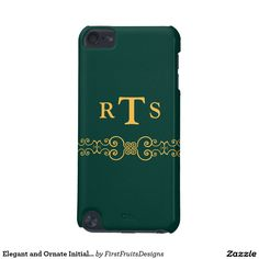 Elegant and Ornate Initials Belt - Teal Gold 8 iPod Touch 5G Cover