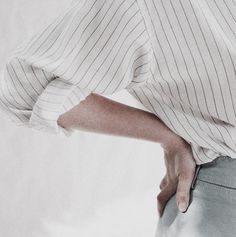 Pinstripe shirt and trousers