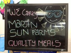 Proud to carry Marin Sun Farms pasture raised, grass-fed meats.  https://www.facebook.com/pages/Avas-Downtown-Market-Deli/326790720682124?ref=hl