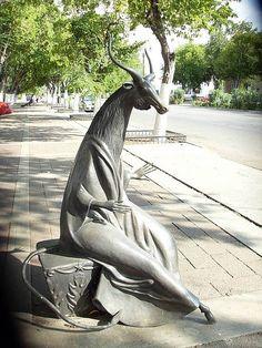 Leonora Carrington sculpture in Paseo de la Reforma Avenue in Mexico City.
