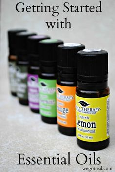 Getting Started with Essential Oils.  Tips for using them safely and top essential oils for beginners.