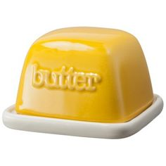 Pass the Butter: 15 Serving Dishes Kitsch, Ceramic Butter Dish, Butter Cheese, Cheese Dishes, Kitchen Supplies, Gadgets And Gizmos, Vintage Shabby Chic, Mellow Yellow, Kitchen Gadgets