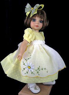Hankie apron dress. fits Tonner Patsy, Ann Estelle. *Little Charmers Doll Design