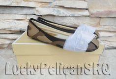 MICHAEL Michael Kors Fulton Saffiano Moc Flats Duffle Camo Shoes Size 7M NWB #MichaelKors #BalletFlats