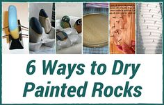 Painting Rock & Stone Animals, Nativity Sets & More: How to Dry Painted Rocks with Household Items