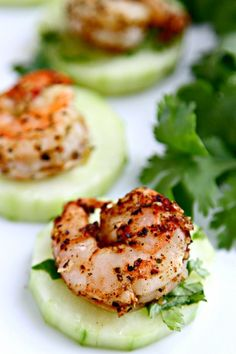 Blackened Shrimp & Crispy Chilled Cucumbers @FoodBlogs