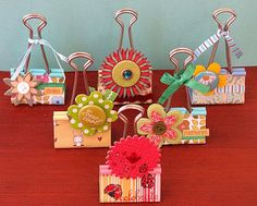 I love binder clips for some reason ~ Altered clips for photo holders.