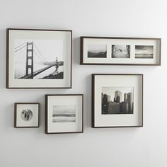 Brushed Antique Bronze Wall Frames | Crate and Barrel