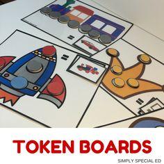 FUN Token boards for your autism classroom! Classroom Behavior, Autism Classroom, Special Education Classroom, Classroom Rules, Classroom Ideas, Token System, Resource Room Teacher, Token Economy, Beginning Of Kindergarten