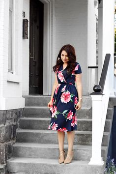 The June Floral Midi Dress