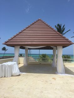 The Wedding Gazebo At Secrets Royal Beach In Punta Cana Is Gorgeous With Only Minimal Decor